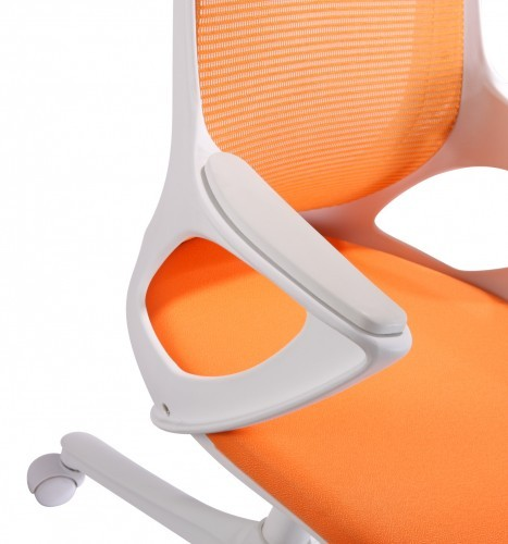 moderner b rostuhl orange wei drehstuhl schreibtischstuhl sessel chefsessel neu. Black Bedroom Furniture Sets. Home Design Ideas