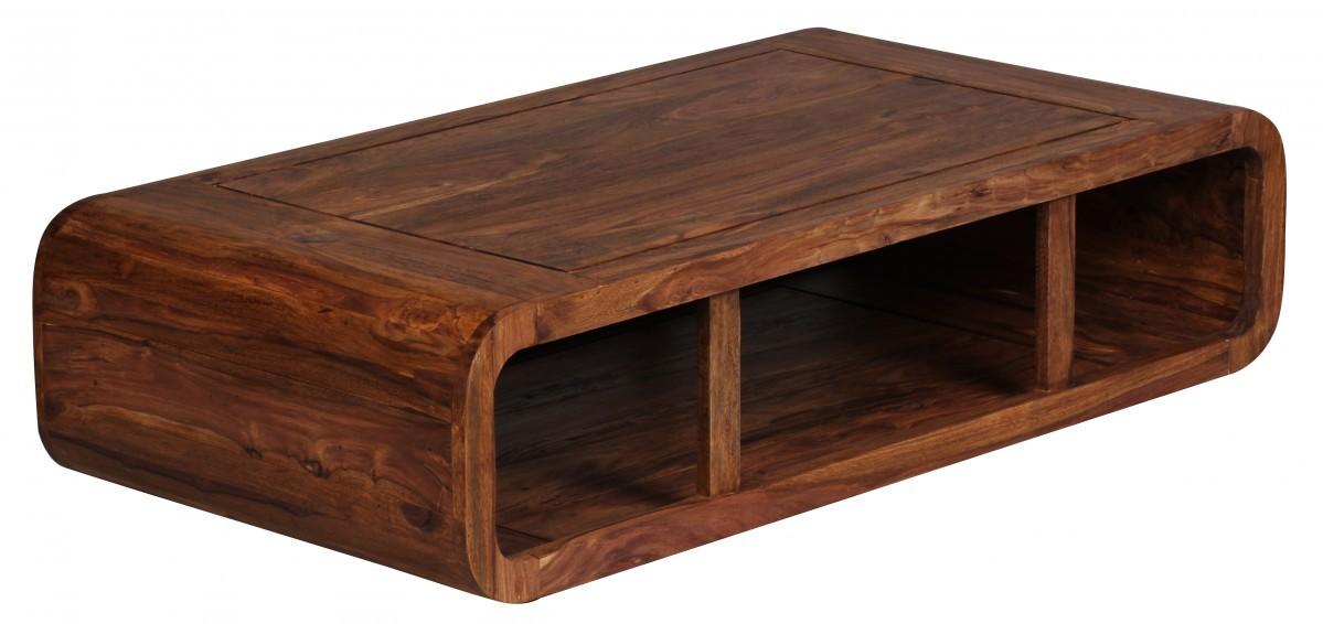 finebuy couchtisch massiv holz sheesham 120 cm breit wohnzimmer tisch design dunkelbraun. Black Bedroom Furniture Sets. Home Design Ideas