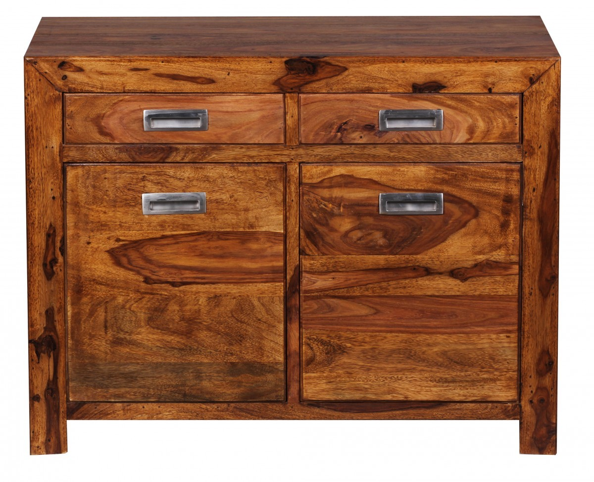 Finebuy sideboard massivholz sheesham kommode 90 cm 2 for Sideboard 70 cm