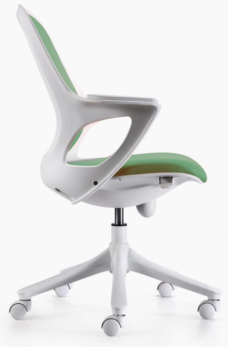 moderner b rostuhl gr n wei drehstuhl schreibtischstuhl stuhl arbeitszimmer neu. Black Bedroom Furniture Sets. Home Design Ideas