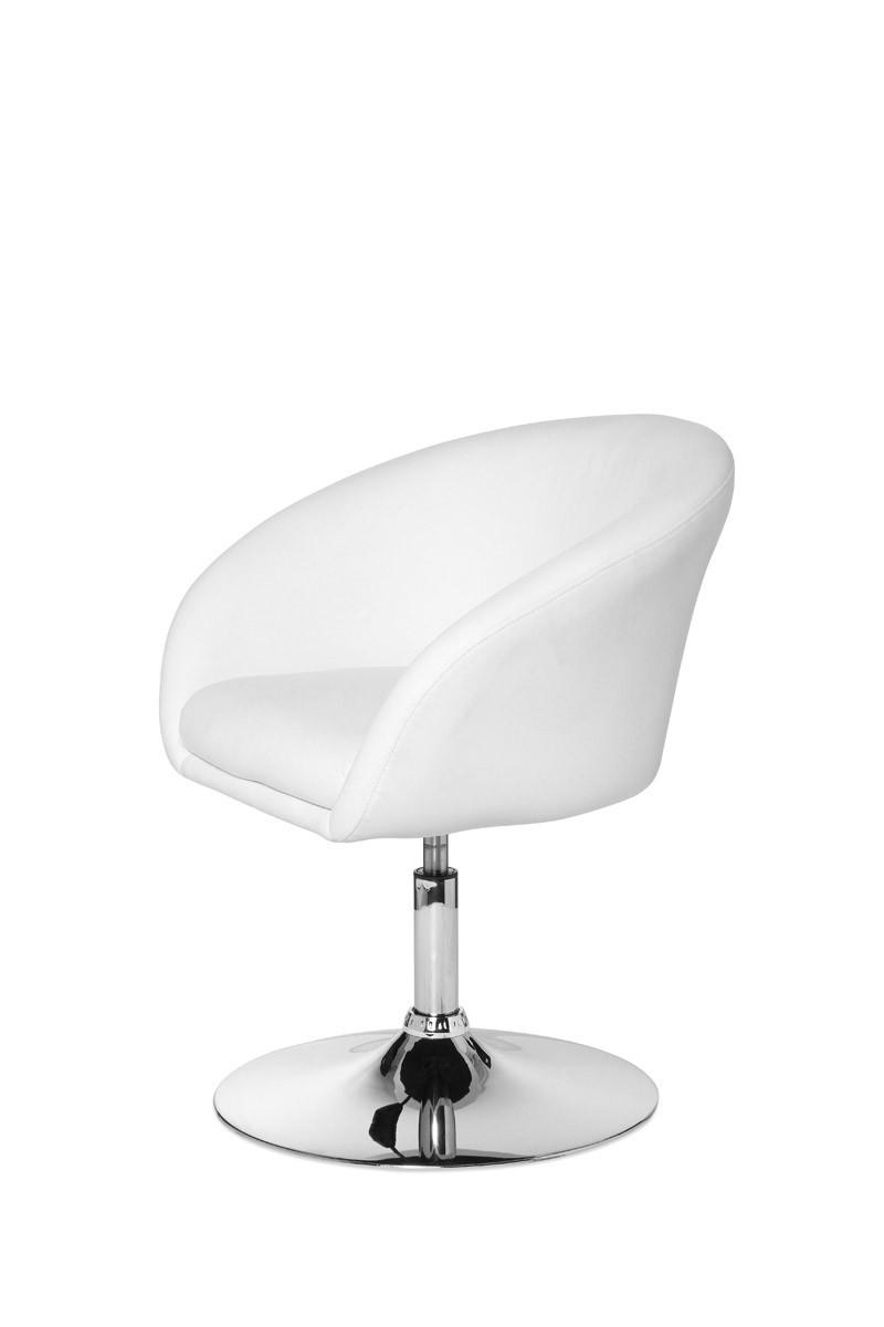 xxl design drehsessel sessel kunst leder wei lounge stuhl drehbar neu ebay. Black Bedroom Furniture Sets. Home Design Ideas