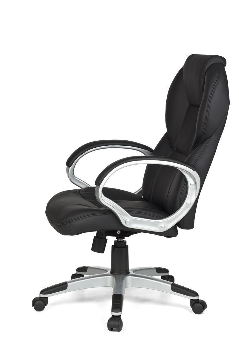 Wow xxl design chefsessel kunst leder schwarz b rostuhl for Schwarz leder sessel design