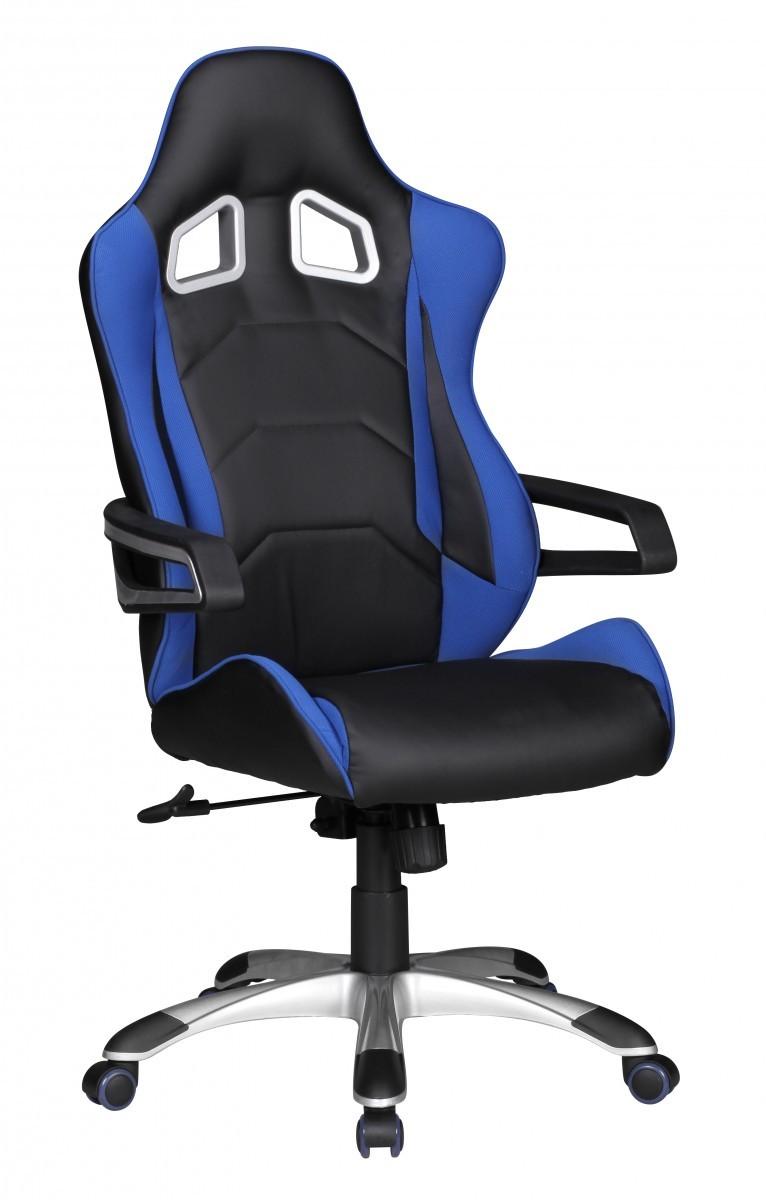 finebuy racing chefsessel schwarz blau b rostuhl drehstuhl schreibtischstuhl neu ebay. Black Bedroom Furniture Sets. Home Design Ideas