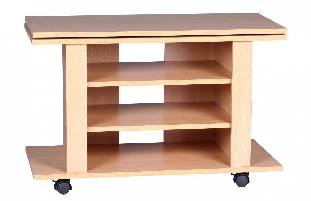 finebuy tv hifi bank buche fernsehtisch drehbar rollbar 75 x 38 x 51 cm 36667. Black Bedroom Furniture Sets. Home Design Ideas