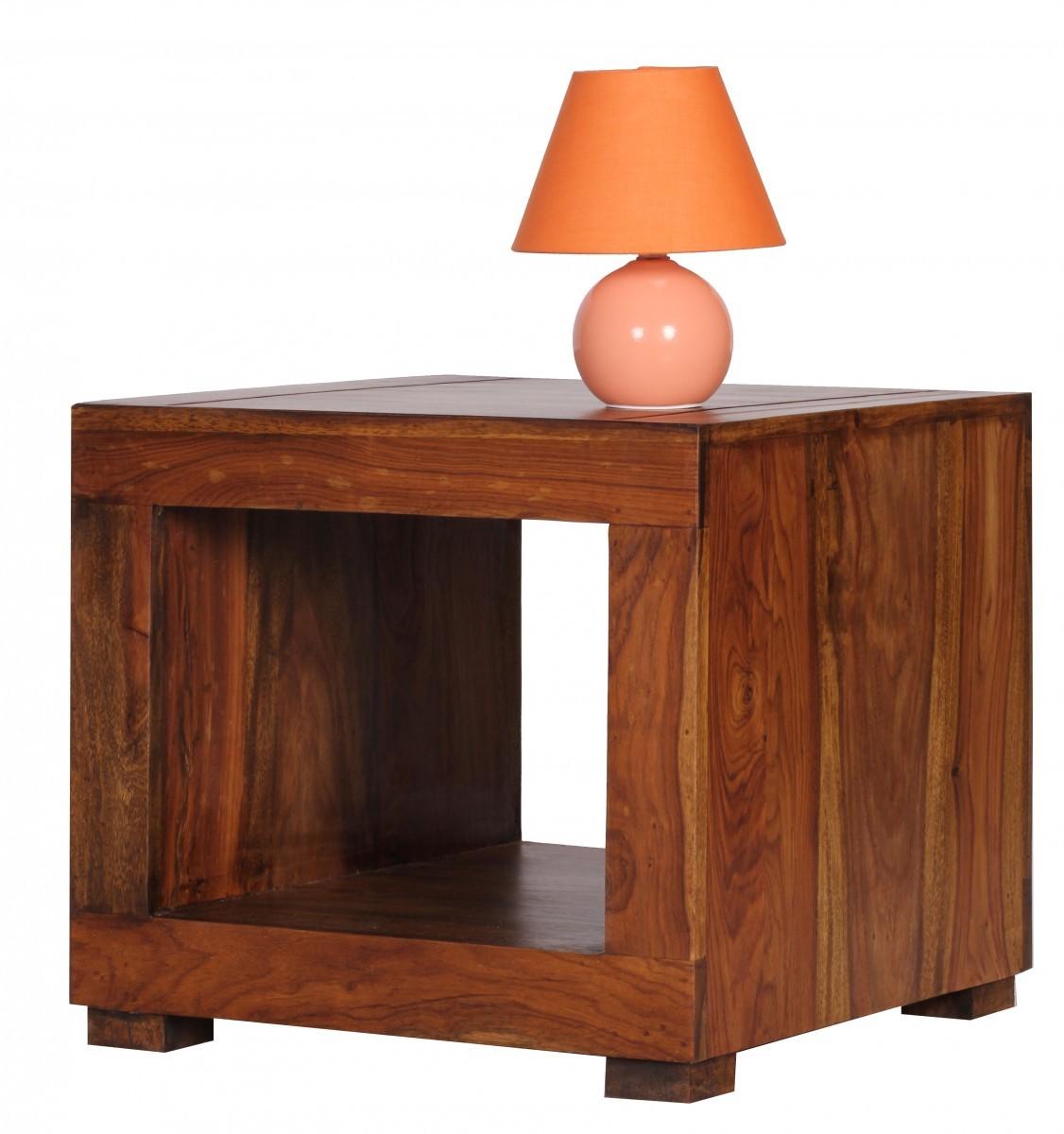 finebuy couchtisch massiv holz sheesham 50 cm breit wohnzimmer tisch design dunkel braun. Black Bedroom Furniture Sets. Home Design Ideas