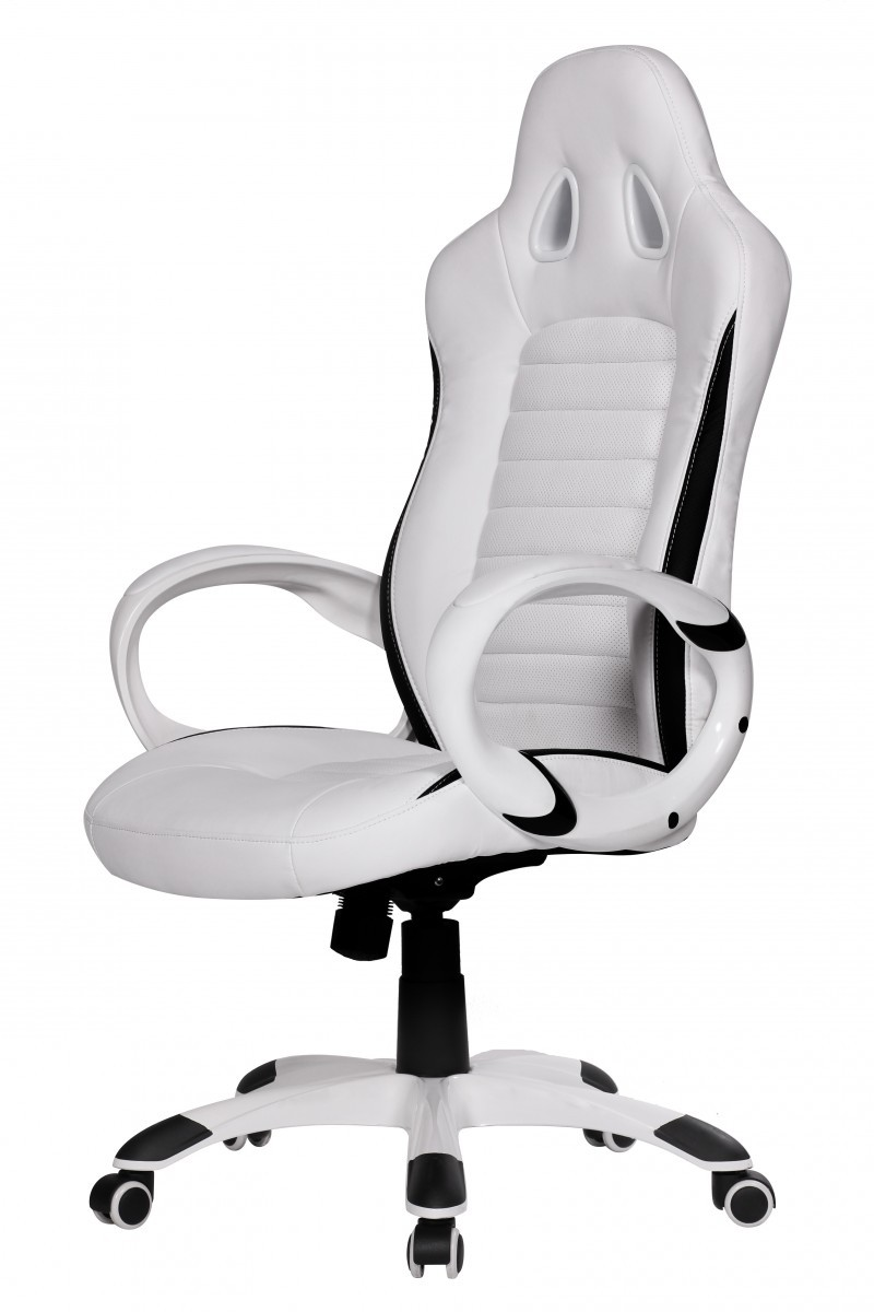 xxl racing sport b rostuhl chefsessel wei drehstuhl racer sessel stuhl neu ebay. Black Bedroom Furniture Sets. Home Design Ideas
