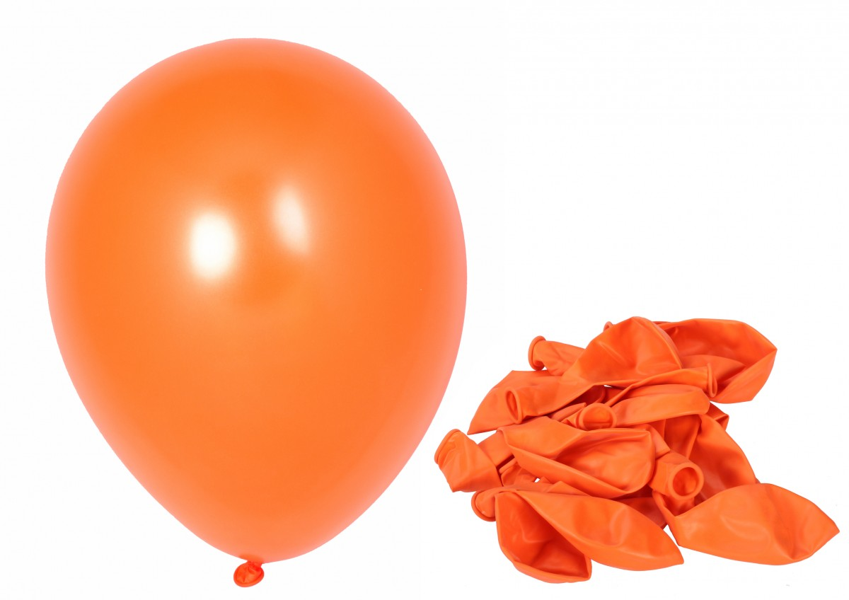 100 luftballons orange partyballon 30 5cm ballon deko geburtstag party metallic ebay - Luftballon deko ...