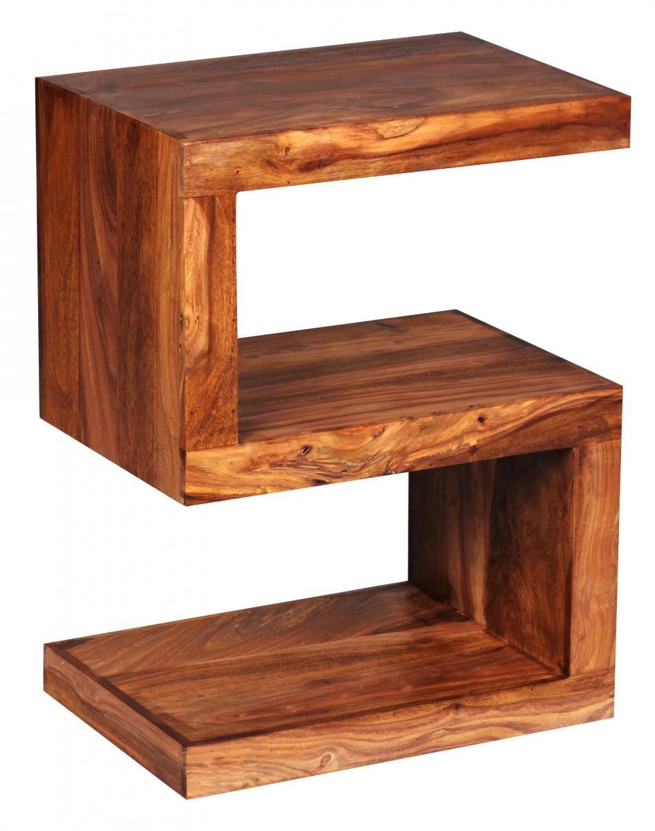 finebuy beistelltisch massivholz sheesham s cube 60cm hoch. Black Bedroom Furniture Sets. Home Design Ideas