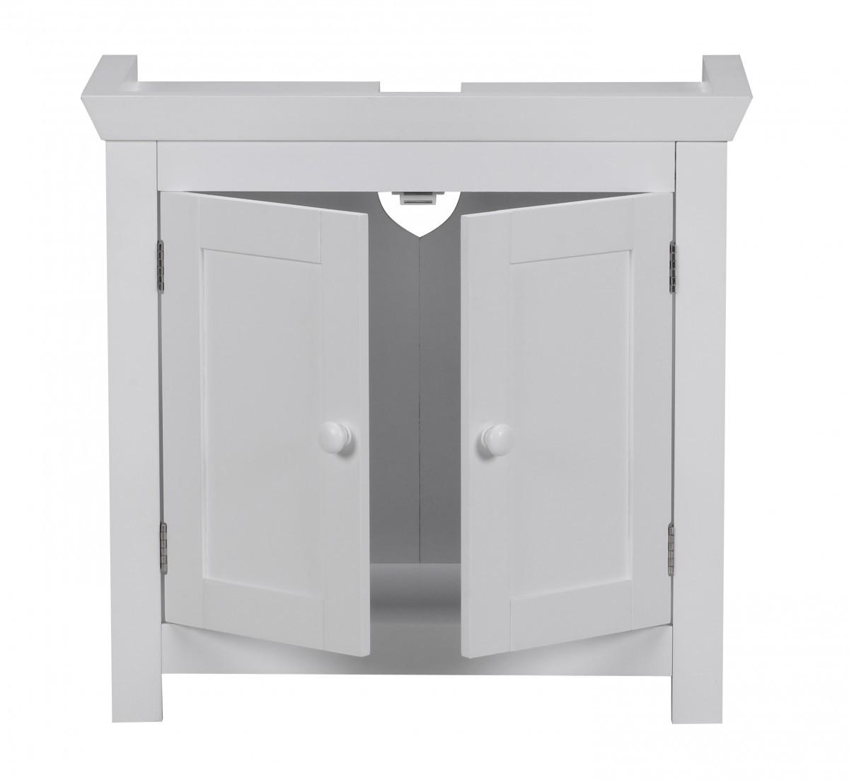 finebuy bad waschbecken unterschrank 55 5 x 57 x 30 cm 2 t ren wei 37103. Black Bedroom Furniture Sets. Home Design Ideas