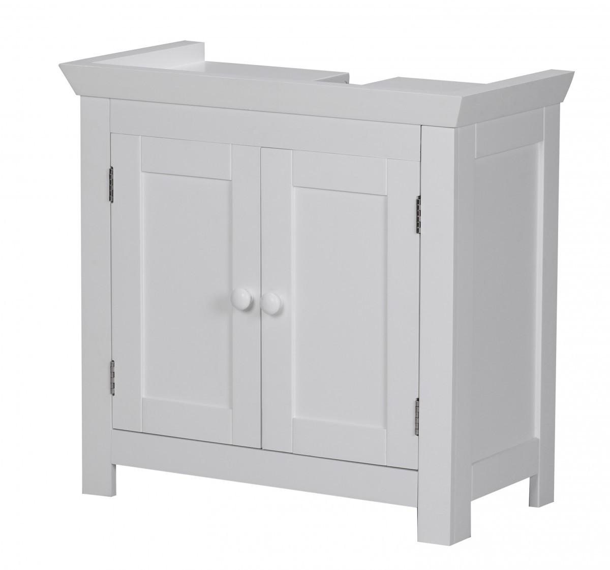 finebuy bad waschbecken unterschrank 55 5 x 57 x 30 cm 2 t ren kommode neu wei ebay. Black Bedroom Furniture Sets. Home Design Ideas