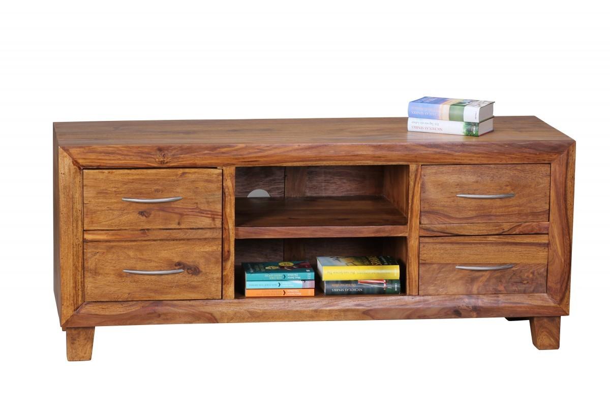 finebuy lowboard massivholz sheesham kommode 135 cm tv board ablage fach landhaus stil 4. Black Bedroom Furniture Sets. Home Design Ideas