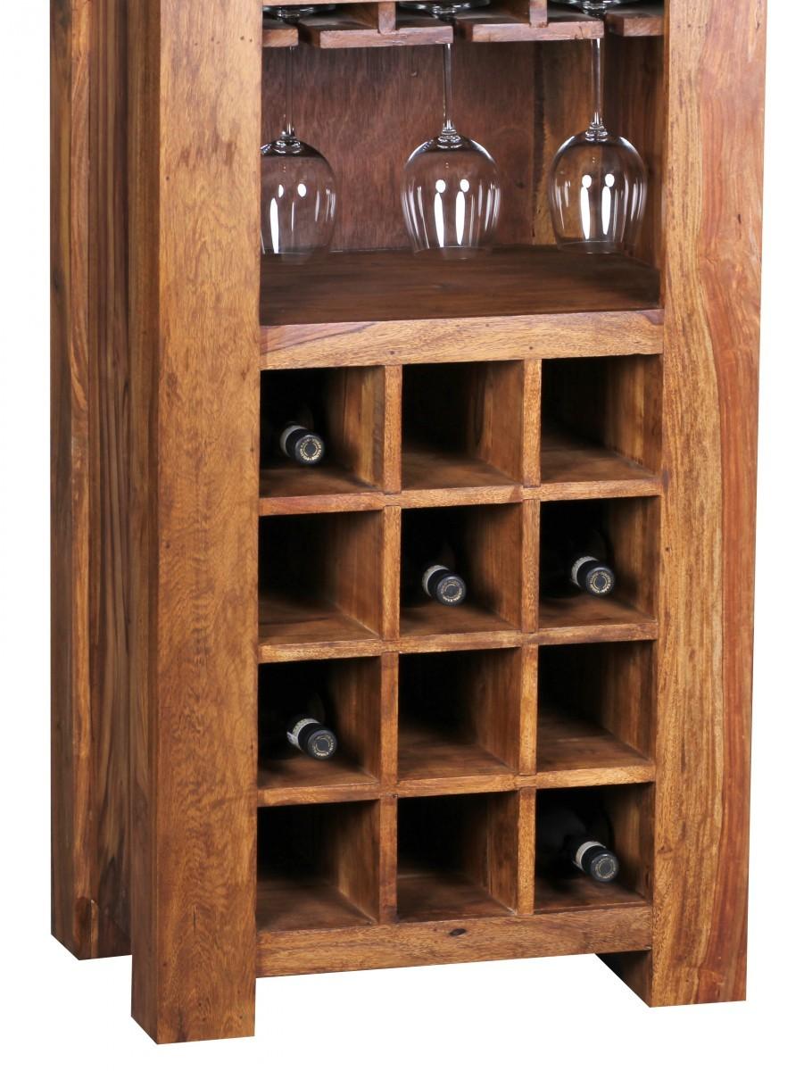 finebuy sheesham massivholz weinregal bar m bel regal. Black Bedroom Furniture Sets. Home Design Ideas