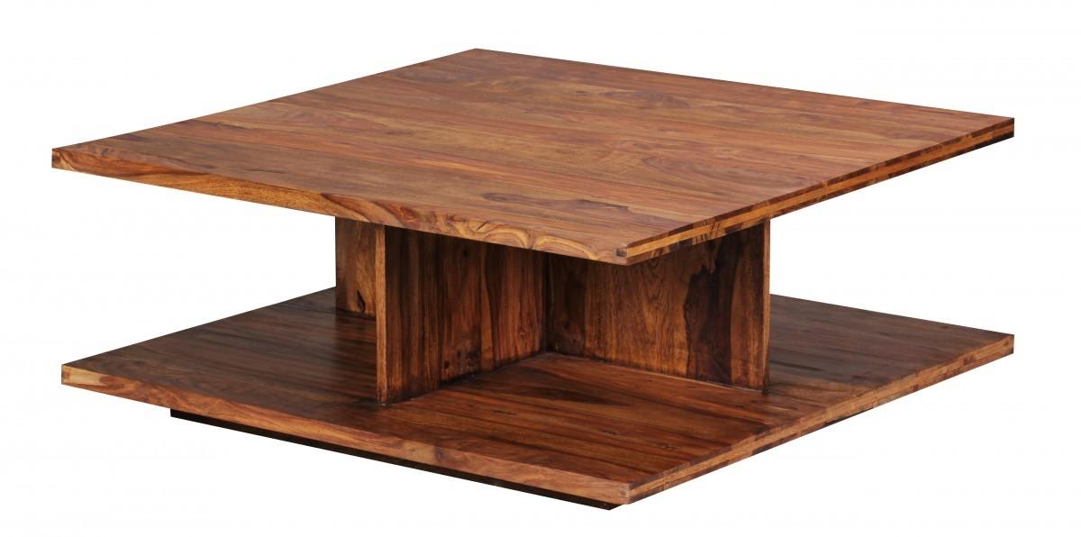 FineBuy Couchtisch Massiv-Holz Sheesham 88 cm breit Design ...