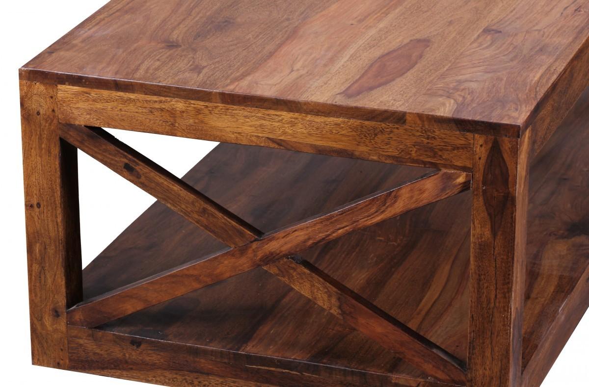 FineBuy Couchtisch Massiv-Holz Sheesham 110 cm breit ...