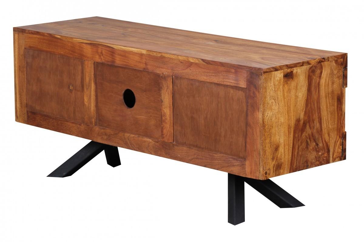 finebuy design sheesham massivholz lowboard tv hifi regal kommode sideboard neu ebay. Black Bedroom Furniture Sets. Home Design Ideas