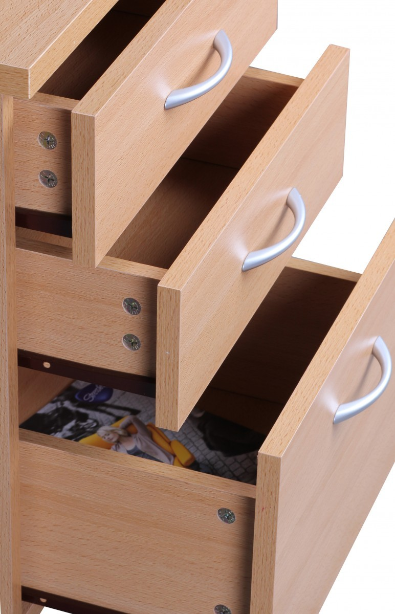 finebuy rollcontainer buche 40 x 60 cm mit 3 schubladen und rollen 37553. Black Bedroom Furniture Sets. Home Design Ideas