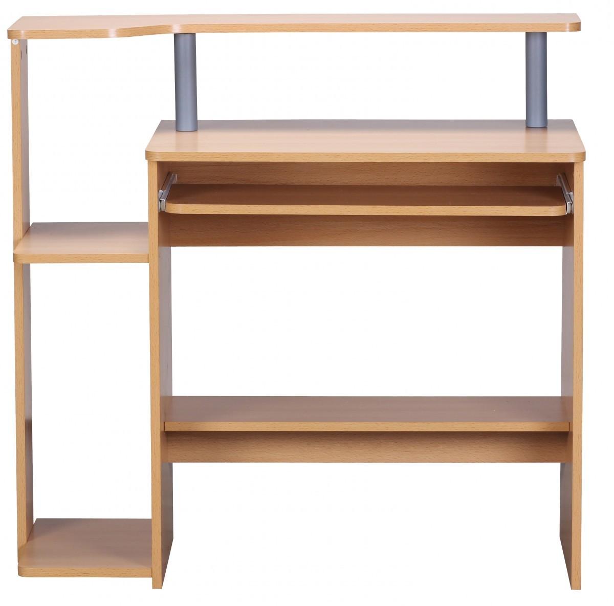 finebuy computertisch buche mit ablage pc tisch kinder. Black Bedroom Furniture Sets. Home Design Ideas