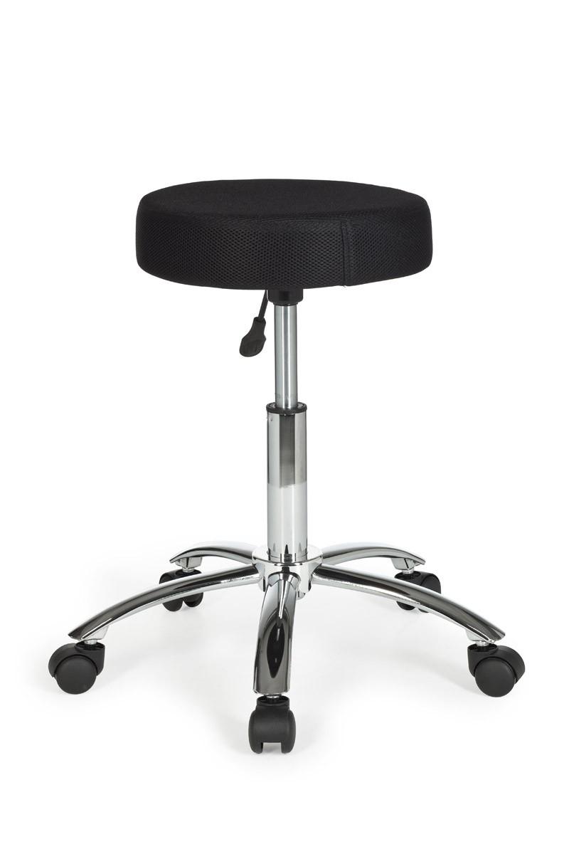 Amstyle leon chaise tabouret tissu noir pivotante - Chaise tissu noir ...