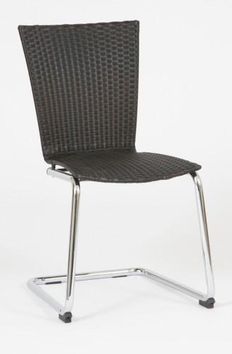Design esszimmerstuhl schwingstuhl rattan schwarz neu ebay for Designer schwingstuhl